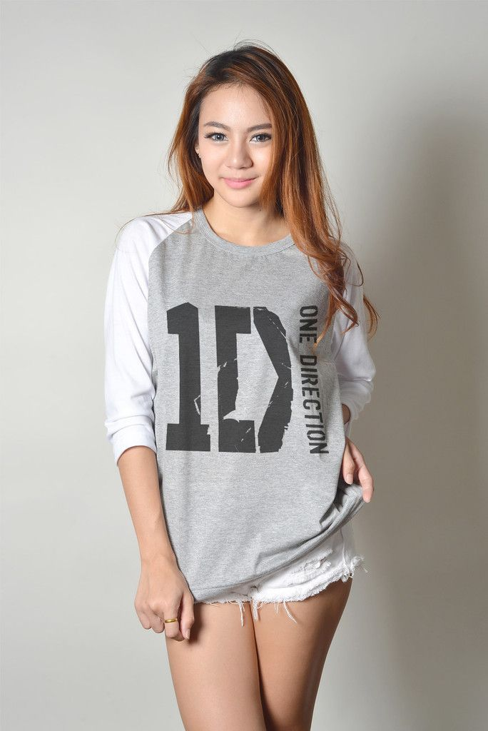 One Direction Shirt 1D Raglan Baseball Tee TShirt for Teenager Women Fashion Trends Outfit Tops #shopify