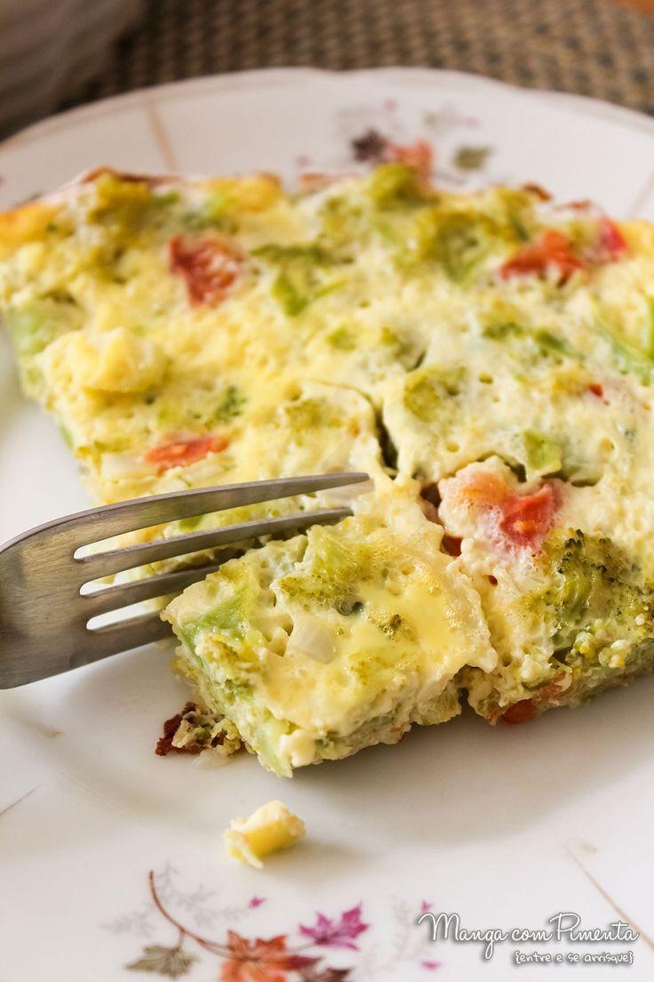 Omelete de Forno Recheado com Brócolis e Tomate