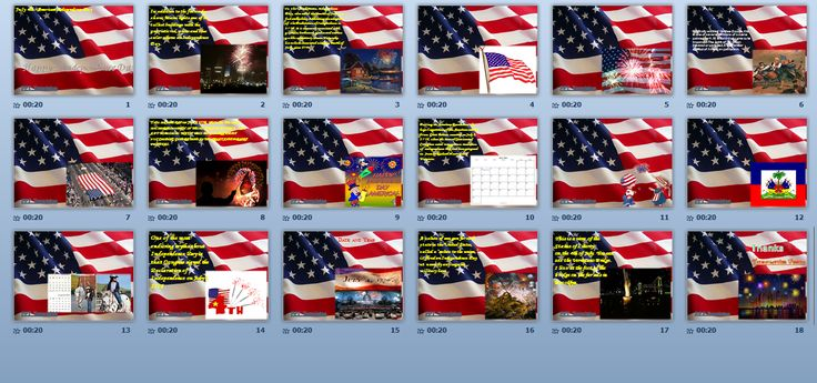 4th July or Happy Independence Day of America PowerPoint Presentation wtih Background Music - PPT Templates by Templates Vision