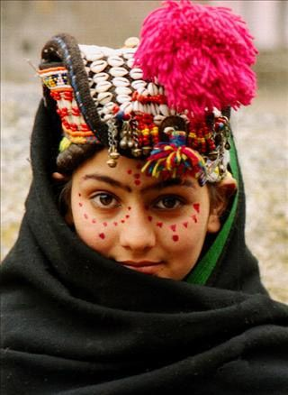 Asia: Kalash girl, Pakistan