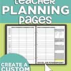 Based on teacher request, this customizable template allows you to use Excel or PowerPoint to make yourself planning pages! No more impersonal plan...