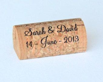 custom and wine cork place card holders corkey creations