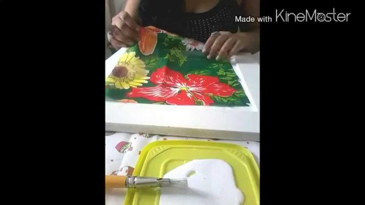 Como fazer um quadro com chita - by Michele Liebe