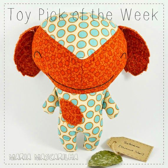 Toy Pick of the Week - Handmade Orange and Blue Baby Toy