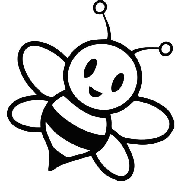 Coloring Pages Draw A Bee Honey Bee Coloring Page Bee A Flower Clipart Best Clipart Best Bee Coloring Pages Bee Stencil Bee Printables