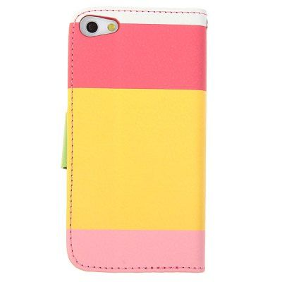 Pink Painting Series Cool PU Leather and Plastic Wallet Stand Case with Card Slots for iPhone 5 #CLICK! #clothing, #shoes, #jewelry, #women, #men, #hats