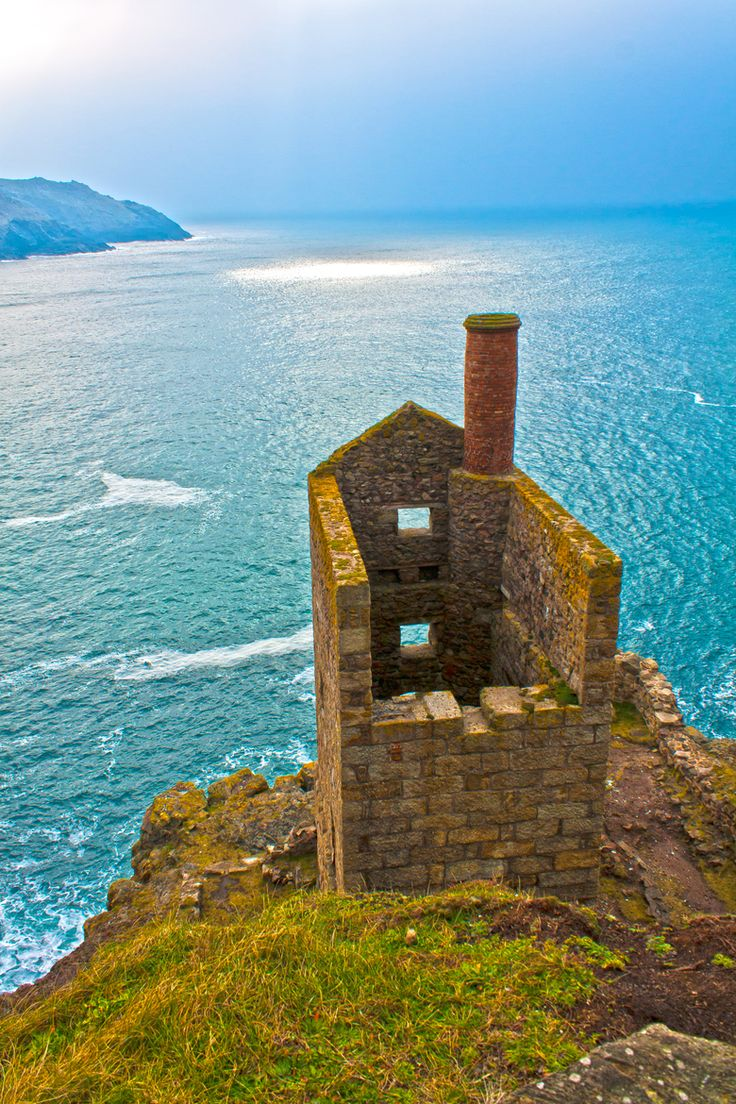 Botallack mine. Situated at Botallack, a village situated between Pendeen & St.Just, Cornwall. This was a former tin mine (copper & arsenic were also mined here, but in lesser quantity than tin). The mine, that  extended out beneath the sea, closed in 1895. The photo shows the remains of the engine house.