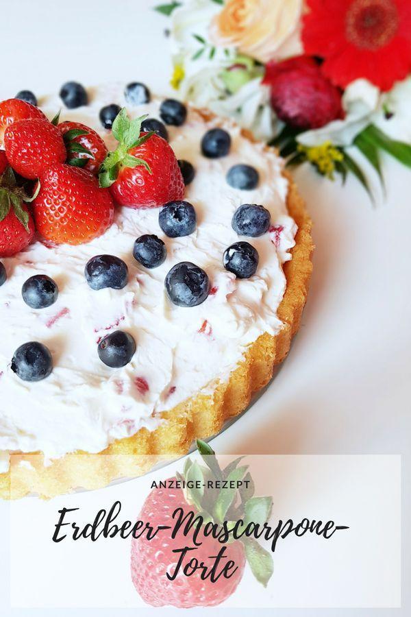 Anzeige Schnelle Erdbeer-Mascarpone-Torte zum Muttertag und ein