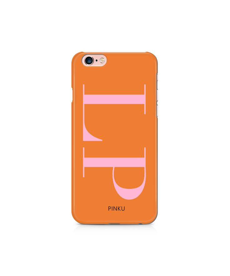 Orange Initials Personalised Phone Case for iPhone 8, iPhone 7, 6, 6s, 6s Plus, 5, 5s, SE, Samsung Galaxy S7 S6 S8 custom phone case by ShopPinku on Etsy https://www.etsy.com/listing/530223425/orange-initials-personalised-phone-case