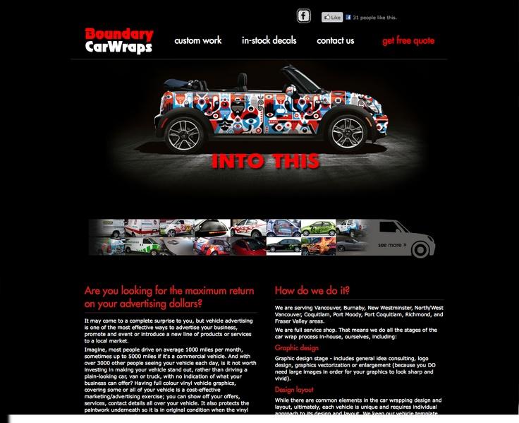 Boundary Car Wrap website design