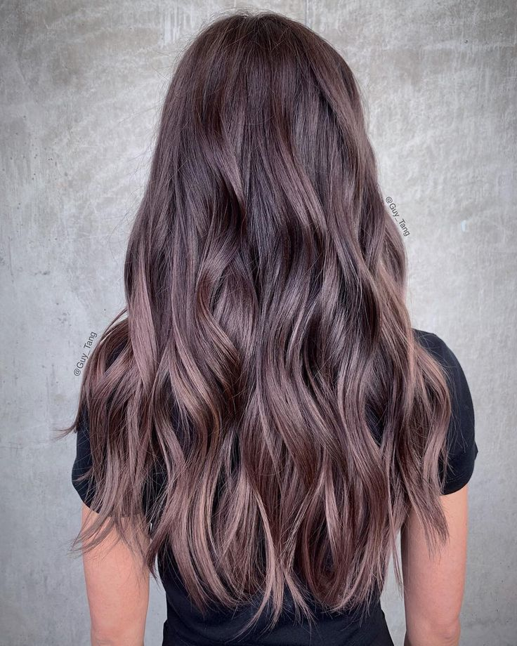 Perfect mushroom brown, with purple tones by Guy Tang