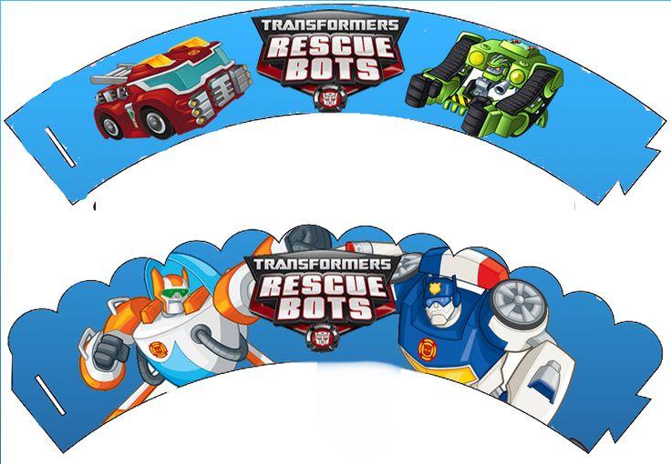 Kit de Transformers Rescue Bots para Imprimir Gratis.