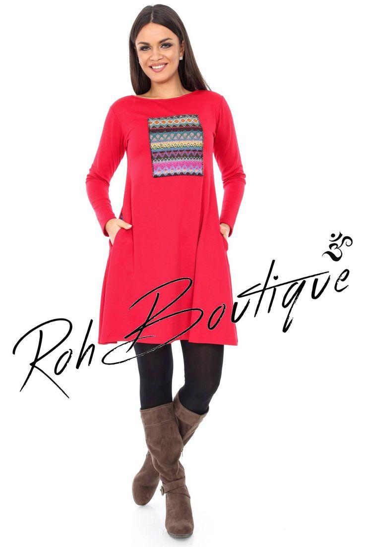 Rochie rosie, casual - DR2673