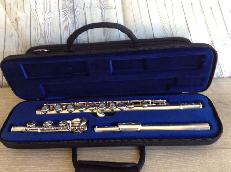 Yamaha Flute YLF-481 Sterling Silver 925 Open Hole In-line G w/ B Foot Soft Case #Yamaha