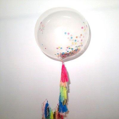 Ruby Rabbit Partyware - Giant Round Balloon & Tassel Tail