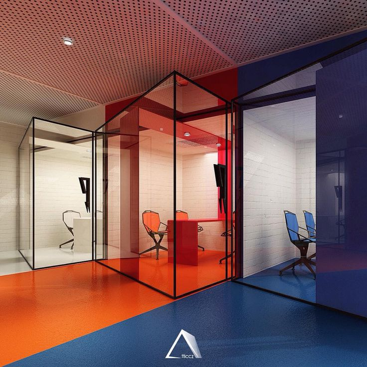 Consultancy Rooms - American Center #room # design #blue #red #white