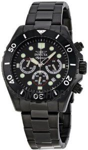 Invicta Signature Black Chronograph Steel