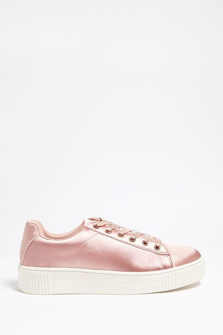 Satin Low-Top Sneakers // 24.90 USD // Forever 21
