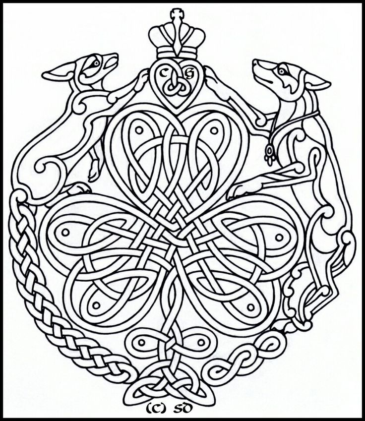 Celtic Dogs PatternsCeltic DesignsAdult ColoringColoring PagesColoring BooksColouringCeltic