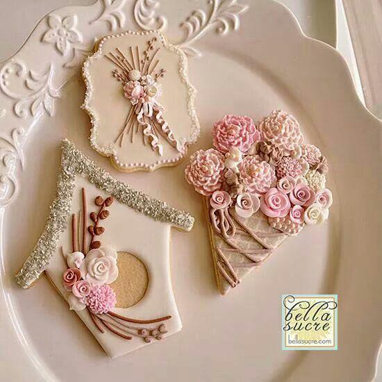 Роспись пряников в стиле шебби шик Cookies, Shabby chic