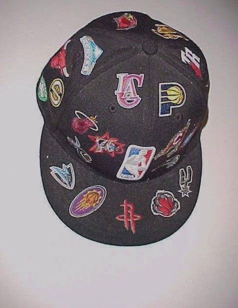 NBA Team Logos Warriors Spurs Rockets Celtics Adult Unisex Black Baseball Cap #NewEra #BaseballCap