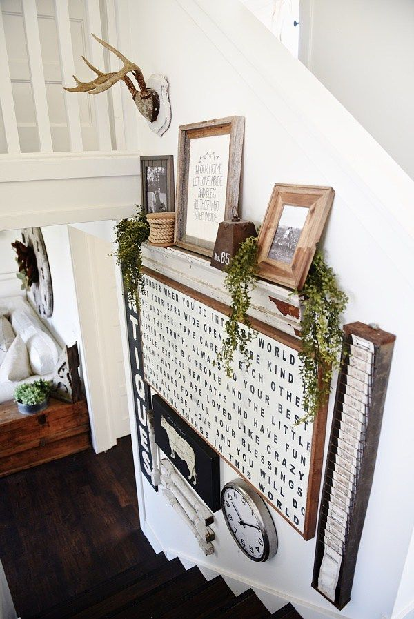 Chic Ways To Decorate Your Staircase Wall: A Great Blog For DIY Farmhouse