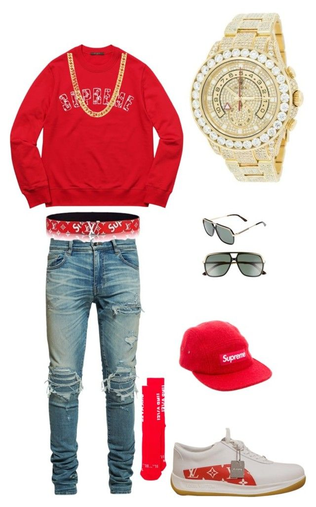 Supreme by tikitress on Polyvore featuring AMIRI, Unravel, Gucci, Supreme, Louis  Vuitton, Rolex, men s fashion and menswear 297cfea7201