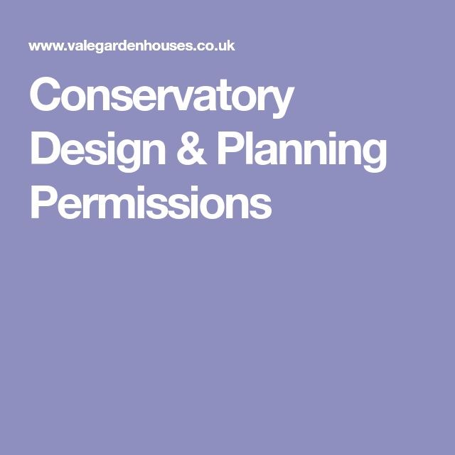 Conservatory Design & Planning Permissions