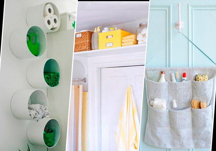 10 ideias para organizar o seu banheiro