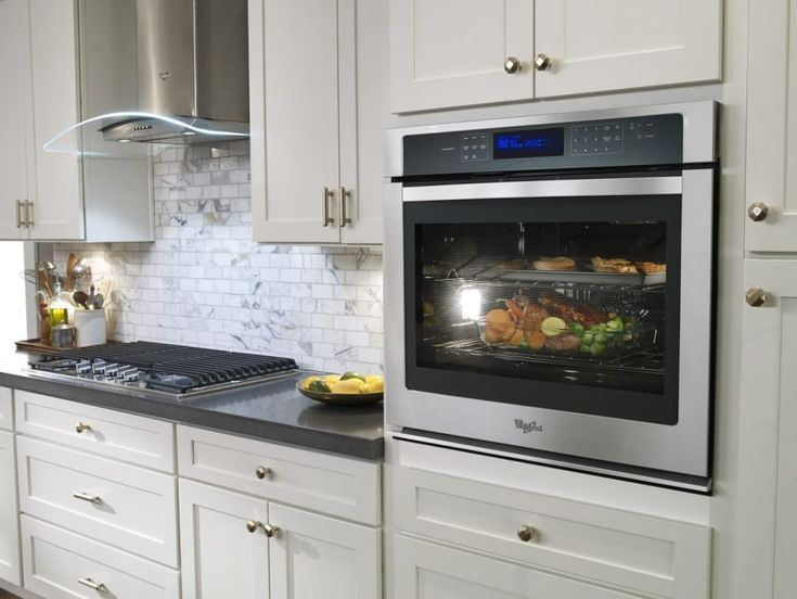 Whirlpool WOS97ES0ES 30 Inch Single Electric Wall Oven with 5.0 cu. ft. Capacity, True Convection, Self Clean, Concealed Bake Element, Digital Meat Thermometer, ADA Compliant, Star-K Certified Sabbath Mode and Glass Touch Control Panel