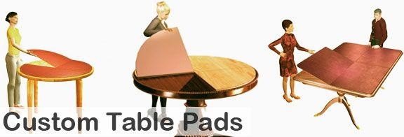 BuyTablePads.com is the nation's largest manufacturer of high quality, handcrafted  protective table pad and table cover products for the home and office.