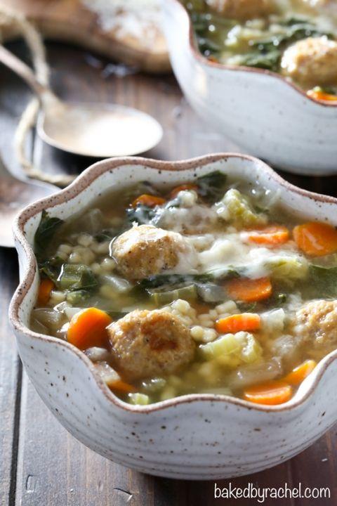 Easy Slow Cooker Italian Wedding Soup Recipe From Bakedbyrachel A Hearty Dinner