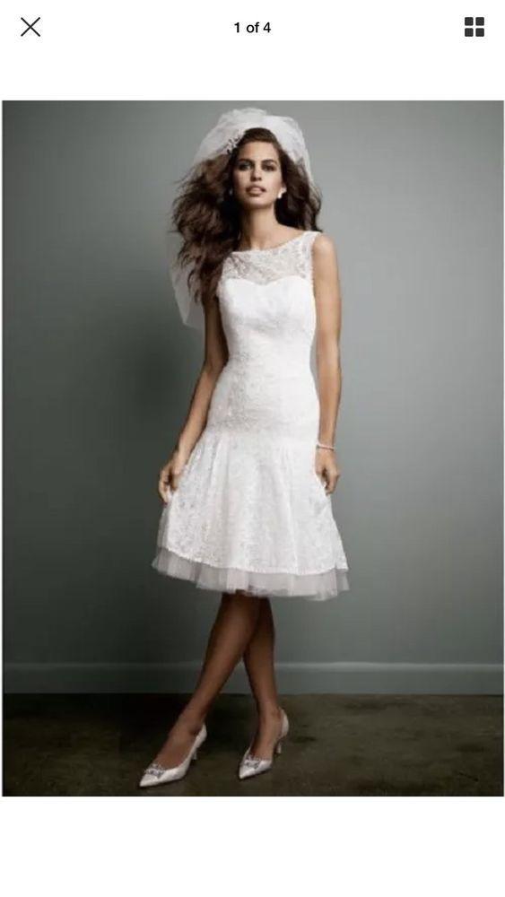e6483fc97a35 Davids Bridal Galina white Wedding Dress NWT Size 12  fashion  clothing   shoes