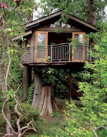 The aptly named Secret Garden Treehouse in Seattle was commissioned by a young music industry star who wanted a quiet retreat.  Read more: http://www.thedailygreen.com/green-homes/latest/treehouse-photos-460310#ixzz1L3gQMmO5