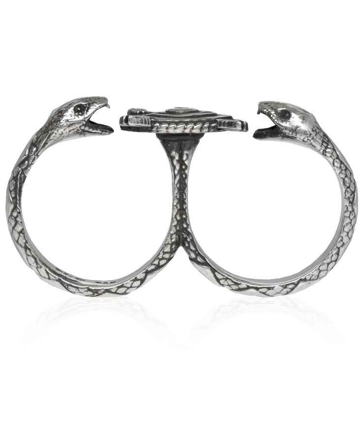 Pamela Love Silver Duel Double Finger Ring at Liberty London