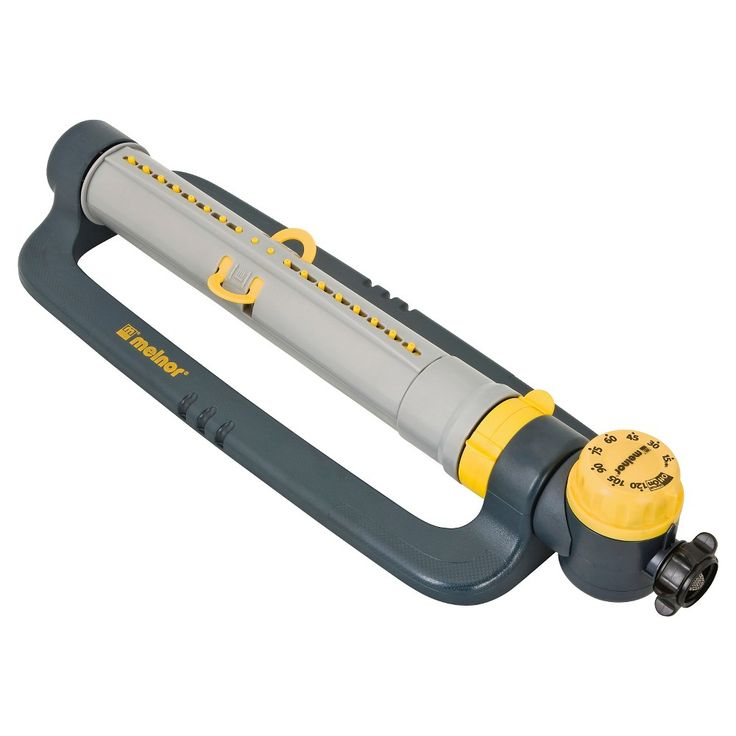 Melnor 3900 sq. ft. Turbo Oscillating Sprinkler with Timer, Grey