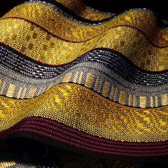Scarf of cotton, rayon, wool 10 x 85 inches <-- great sheen