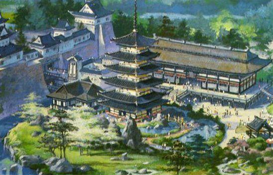 Artwork for Japan at Epcot's World Showcase