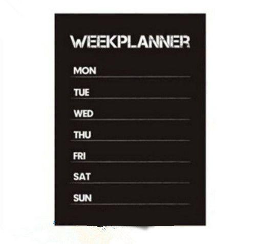 Weekly Planner Calendar MEMO Chalkboard Blackboard Vinyl Wall Sticker Decal WHM 69,33 руб.
