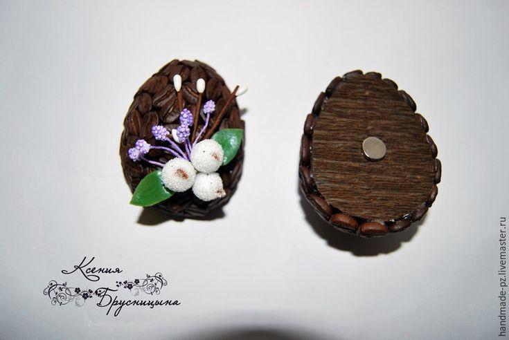 Как сделать ароматный кофейный магнит к Пасхе - Ярмарка Мастеров - ручная работа, handmade