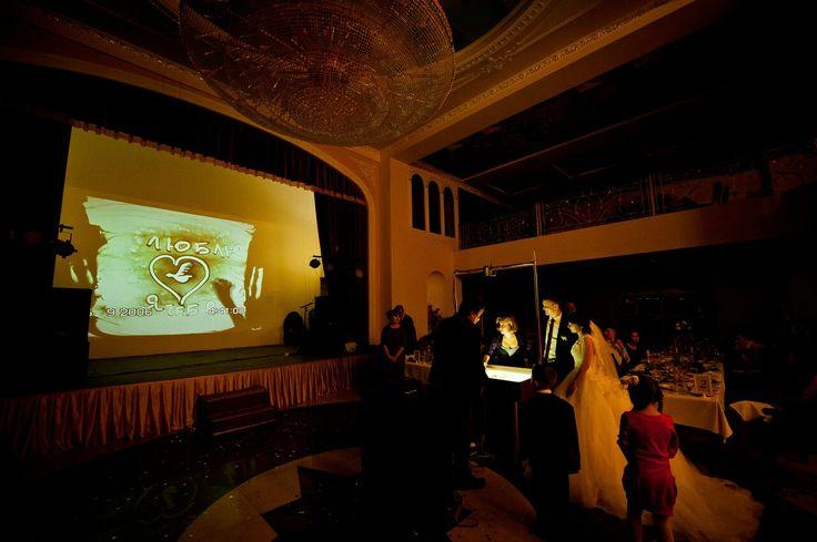 Песочное шоу на свадьбе Мариуполь