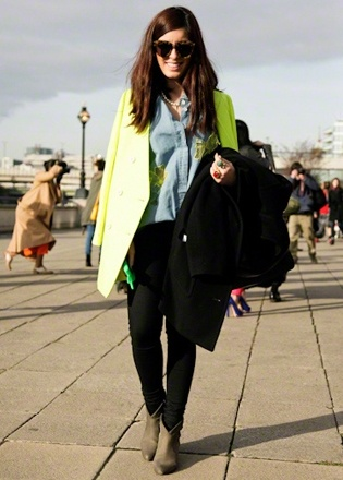 Streetstyle London: Blazer Beauty: Funky Fashion