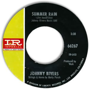 johnny rivers 45 label   Johnny Rivers - Summer Rain/ Memory Of The Coming Good