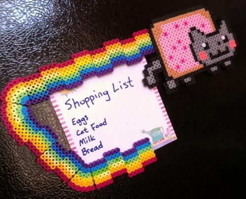 Nyan cat fridge magnet set lol!
