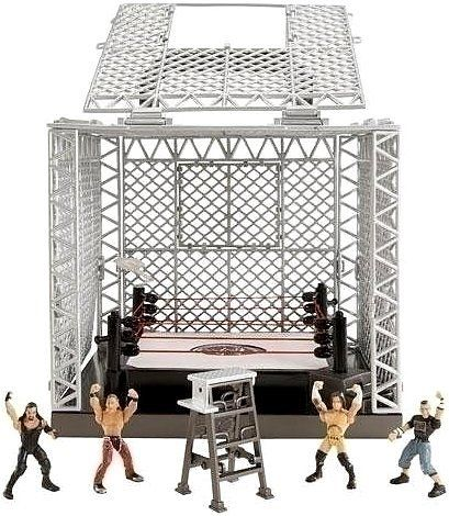 Mattel WWE Wrestling Exclusive Playset The Cell by Mattel, Inc.. $89.95. Spring-Loaded Mat for Real Ring Action!. Easy-To-Climb Walls! Walls Open for Ring Access!. Huge Cage Covers Ring!. Breakaway Ceiling Panels--Crash Through Celing!. Authentic Pay-Per-View Ring!. NA