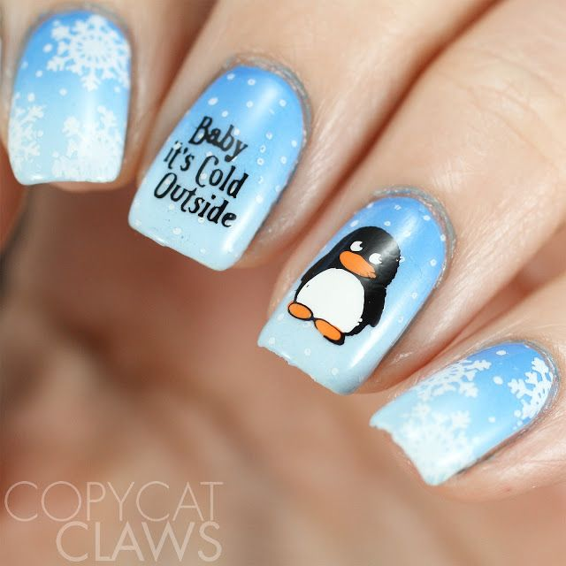 Copycat Claws Blue Color Block Nail Art: 1000+ Ideas About Blue And White Nails On Pinterest