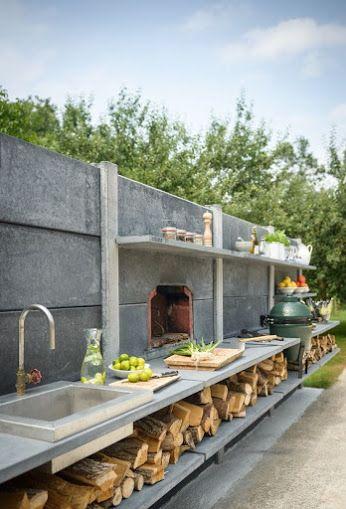 Einige inspirierende Außenküchen von diesem Außenküchenhersteller aus Beton in den Niederlanden