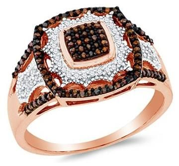 https://ariani-shop.com/10k-rose-gold-chocolate-brown-white-round-diamond-halo-circle-engagement-ring--channel-set-square-princess-center-setting-shape-1-3-cttw 10K Rose Gold Chocolate Brown & White Round Diamond Halo Circle Engagement Ring - Channel Set Square Princess Center Setting Shape (1/3 cttw.)