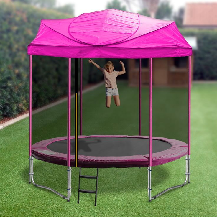 Enjoy your Oz Trampolines Trampoline all year around, with our uniquely designed 6 and 8ft Trampolines with roof.  Available in bright, fun colours this trampoline allows for enjoyment in most weather conditions; providing provide shelter and shade and ensures you enjoy a fun and enjoyable bouncing experience everyday.  *Please do not leave roofs installed in high winds or heavy rain.