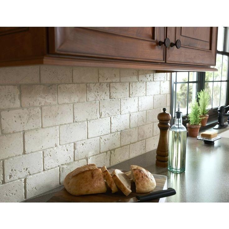 Tumbled Stone Tile Backsplash Kitchen Ideas Gray Natural Amazing